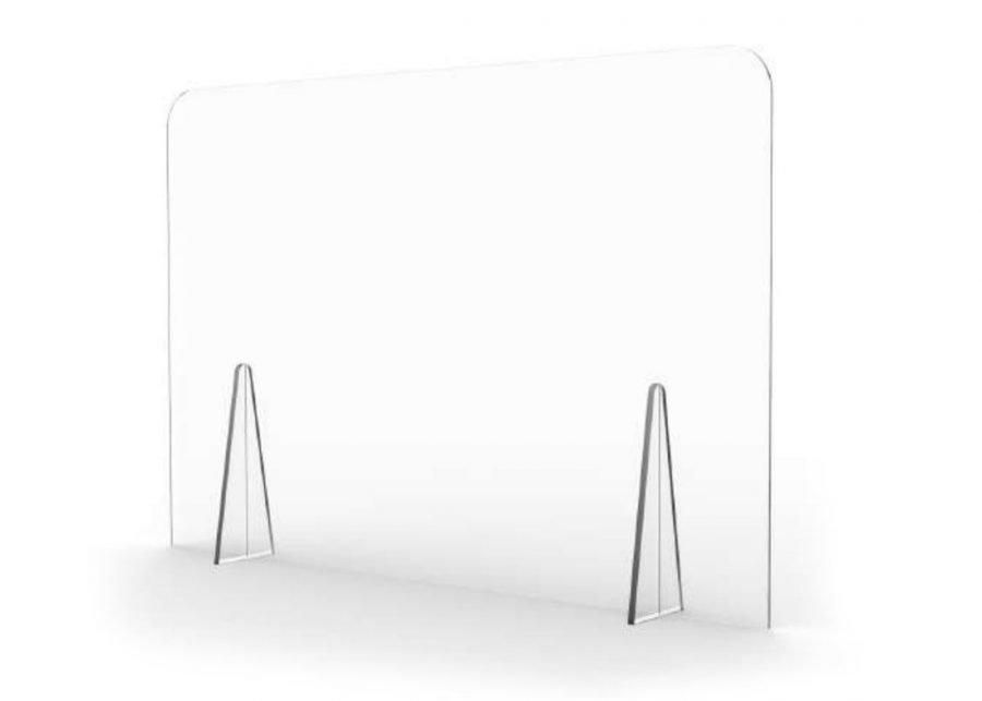 Mampara mostrador transparente sin ventana