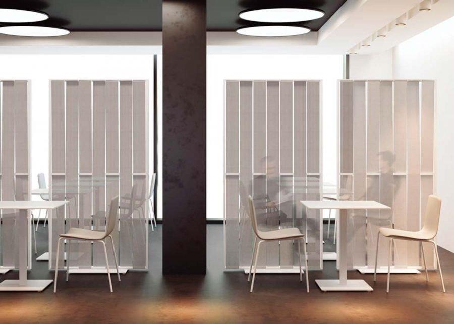 Panel Separador Malva Cafeterías