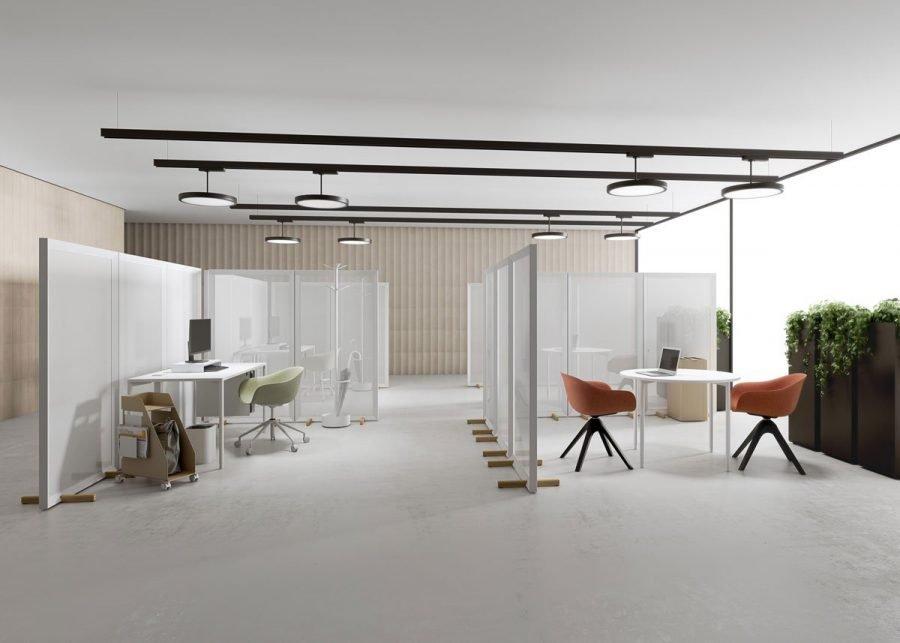 panel separador Parban de espacios de oficina