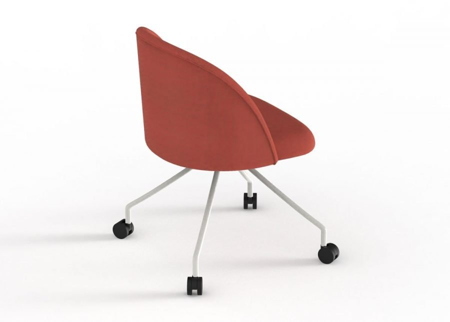 silla chelsea con ruedas vista trasera