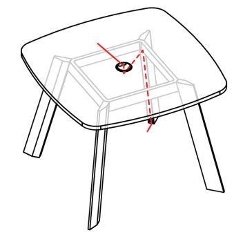 electrificación mesa ECO cuadrada