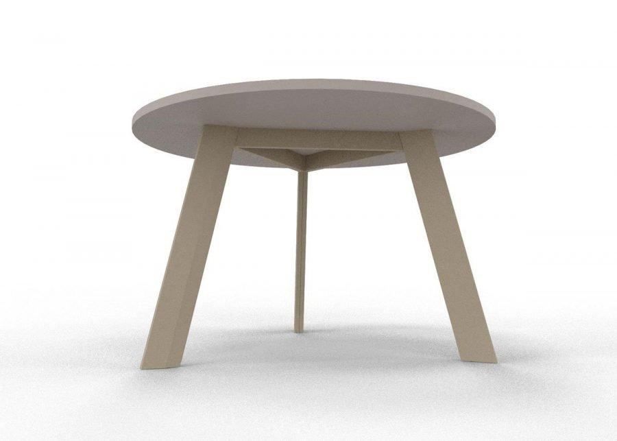 mesa ECO reunión redonda estructura inferior