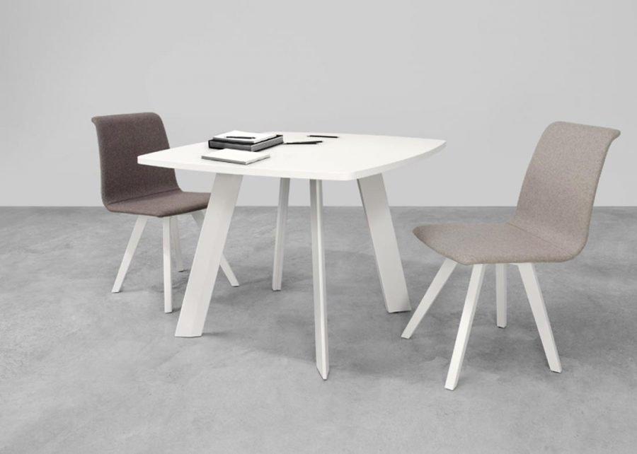 mesa ECO reunión cuadrada gris