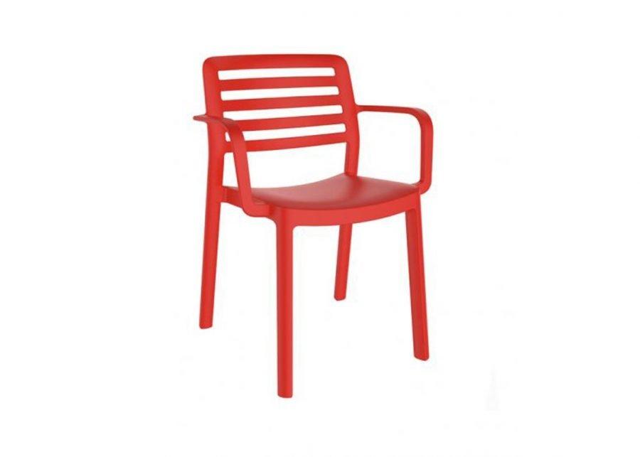 Silla Wind Brazos Rojo Resol