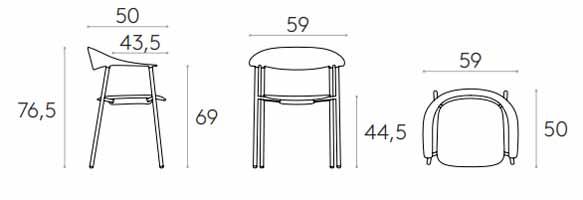 medidas silla Arum Inclass