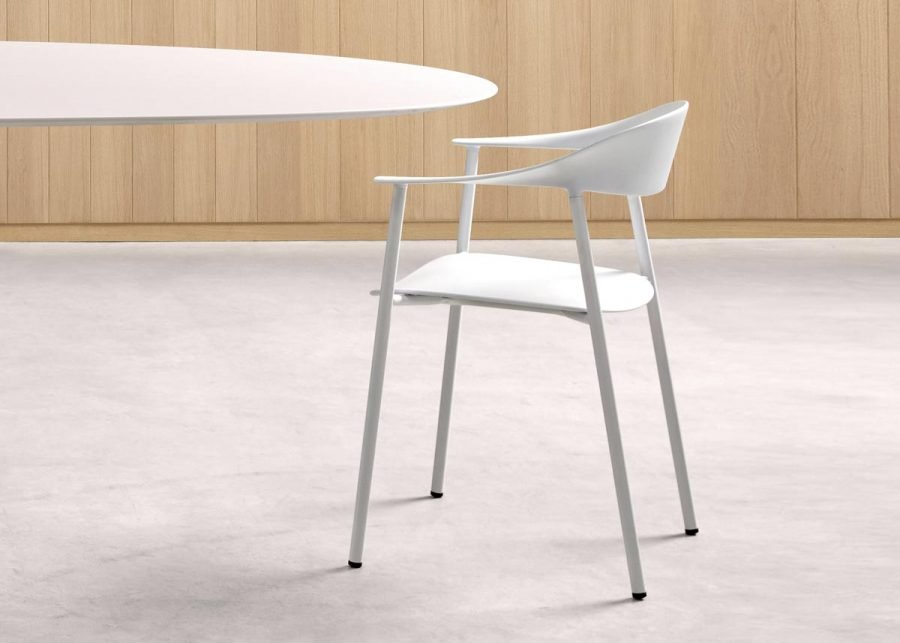 silla Arum blanca