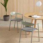 silla Arum tapizada confidente y reuniones