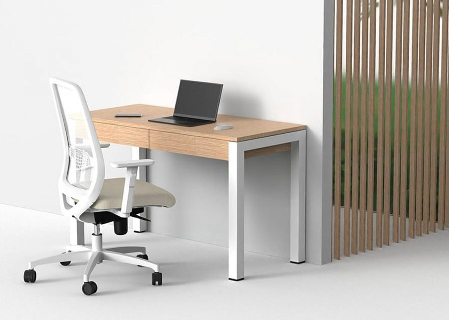 silla peper blanca de home office