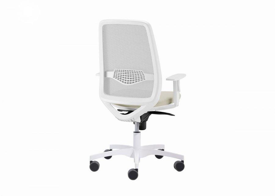 silla peper blanca vista trasera