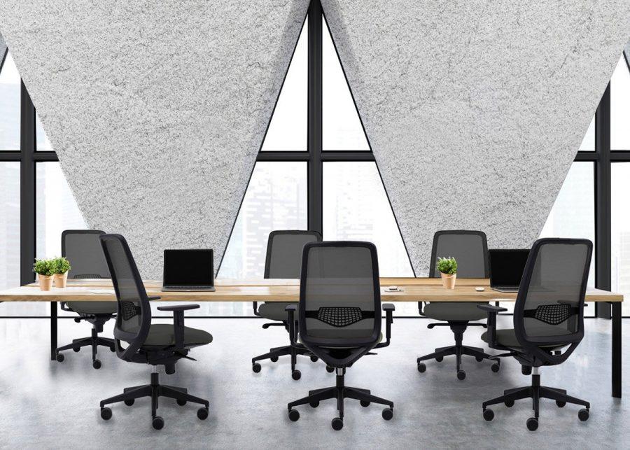 silla peper negra de reuniones