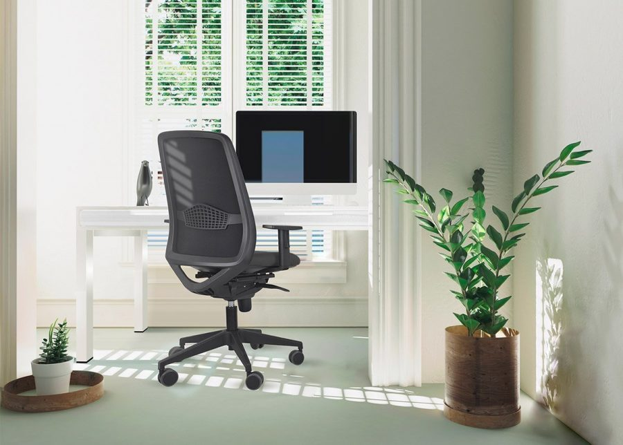 silla peper negra home office