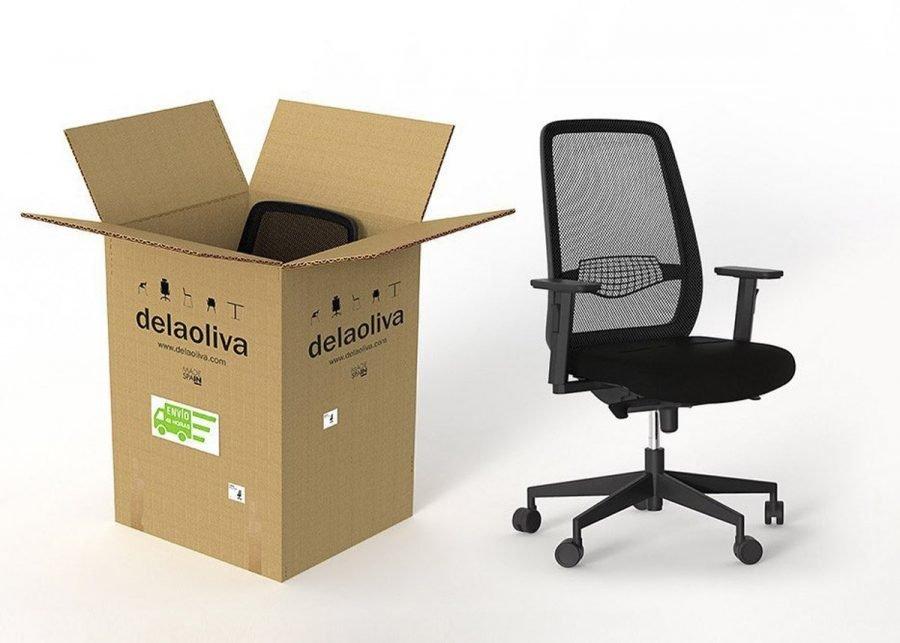 silla peper negra operativa de oficina en caja