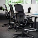 silla at negro respaldo de malla