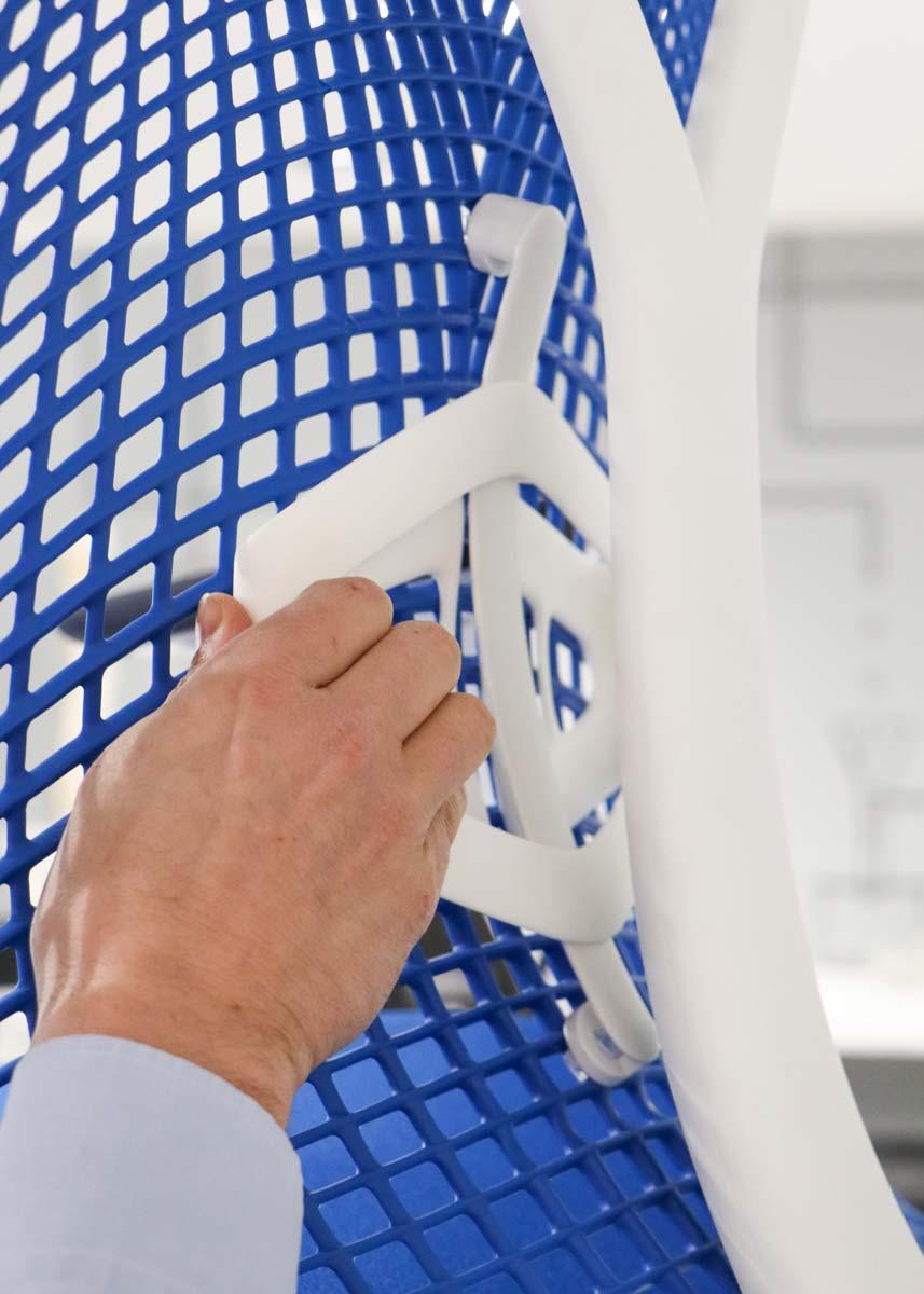 Silla Sayl Azul soporte lumbar