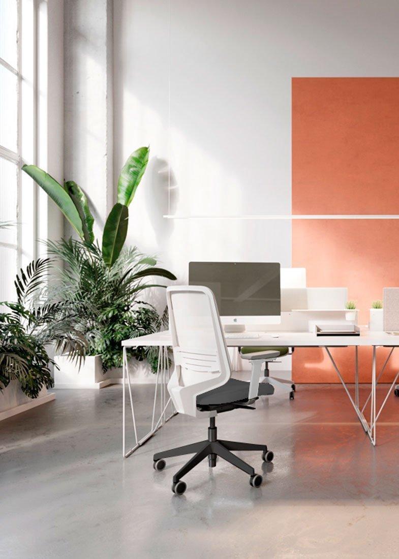 Silla DOT.HOME White Edition oficina operativa