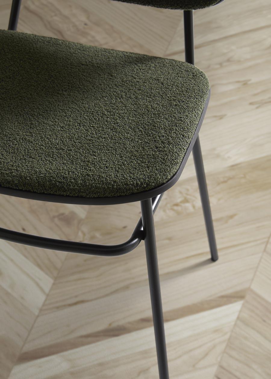 detalle silla fosca tapizada