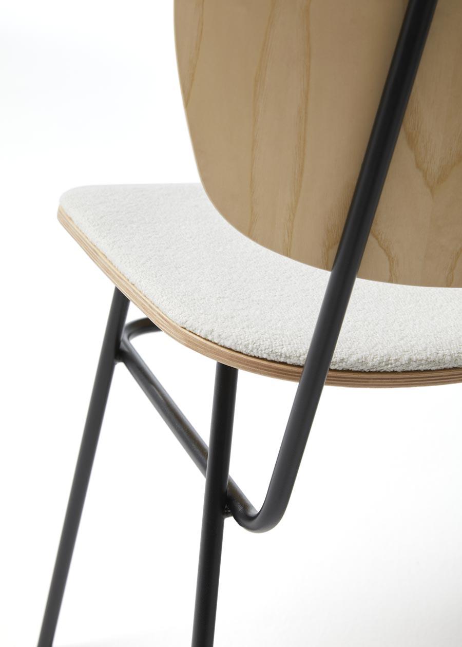 detalle respaldo silla fosca tapizada natural