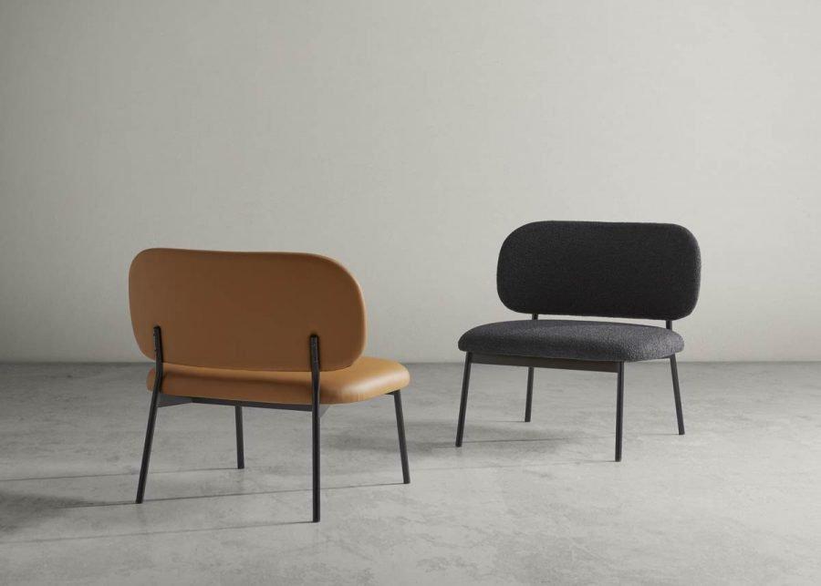 lobby chair RC metal tapizada