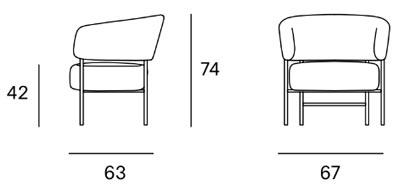 medidas silla RC metal easy chair
