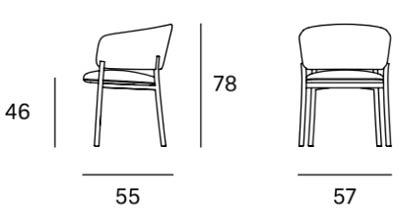 Medidas silla con brazos RC Wood