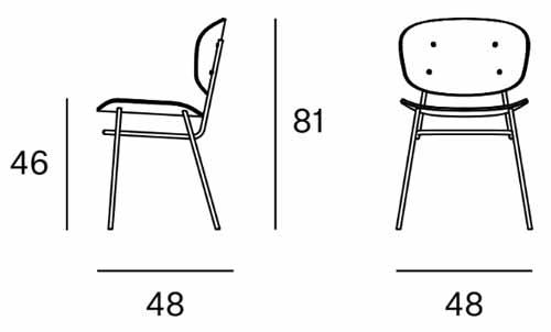 Medidas silla Fosca