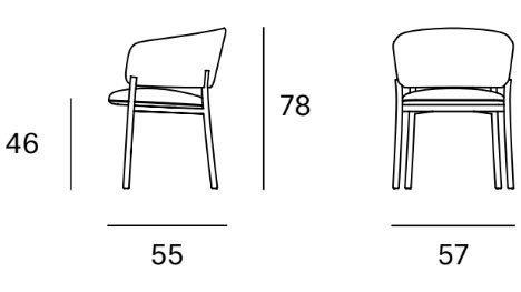 Medidas silla RC Metal con brazos