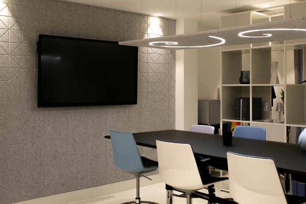 Paneles acústicos decorativos de oficina