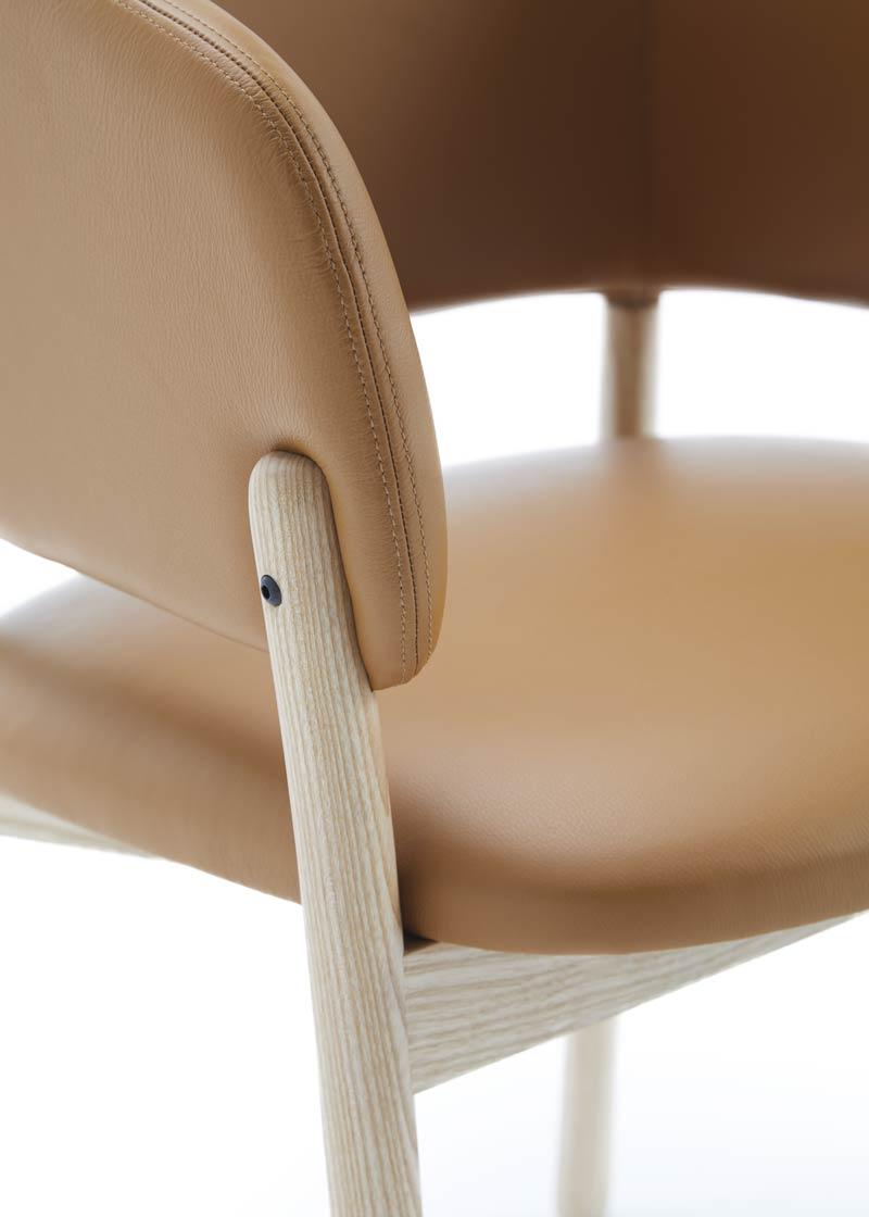silla con brazos rc wood detalle estructura