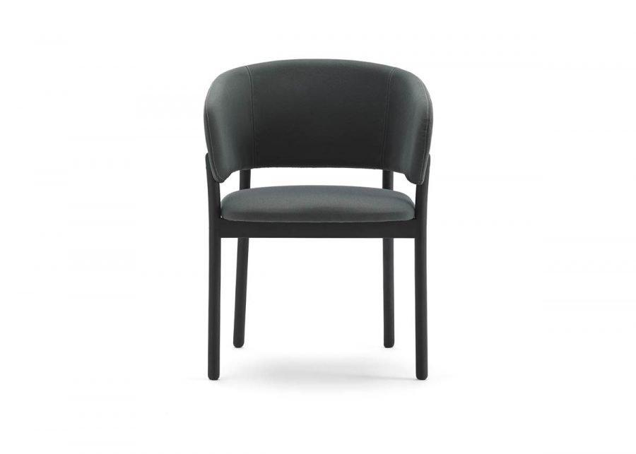 silla con brazos rc wood negro