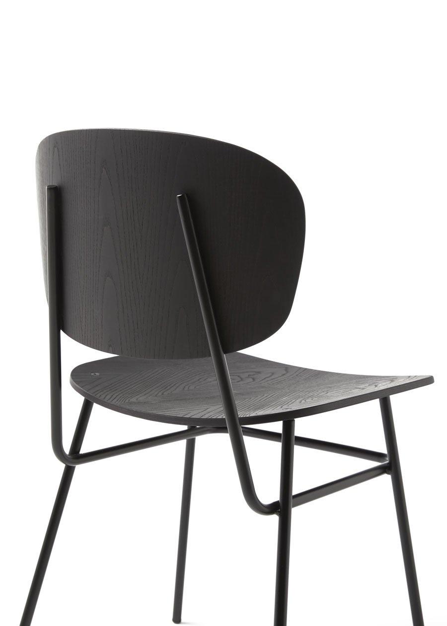 silla fosca fresno negro detalle respaldo