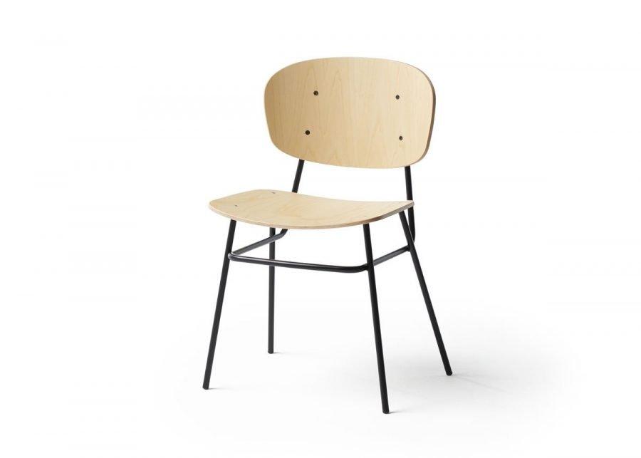 silla fosca madera fresno natural 4 patas