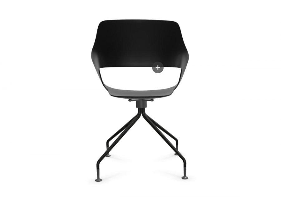 silla occo giratoria respaldo color negro