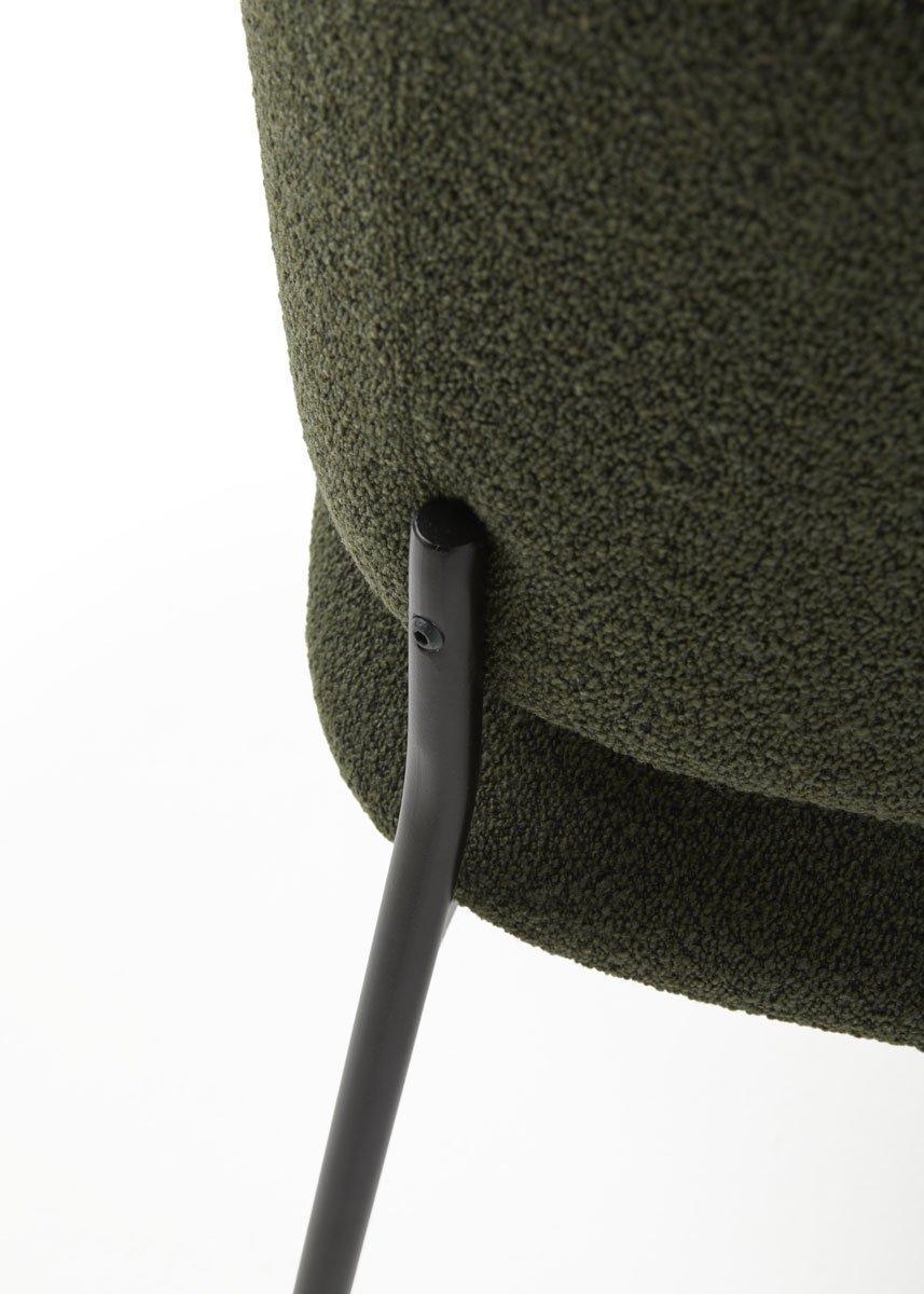 silla RC metal con brazos estructura negra