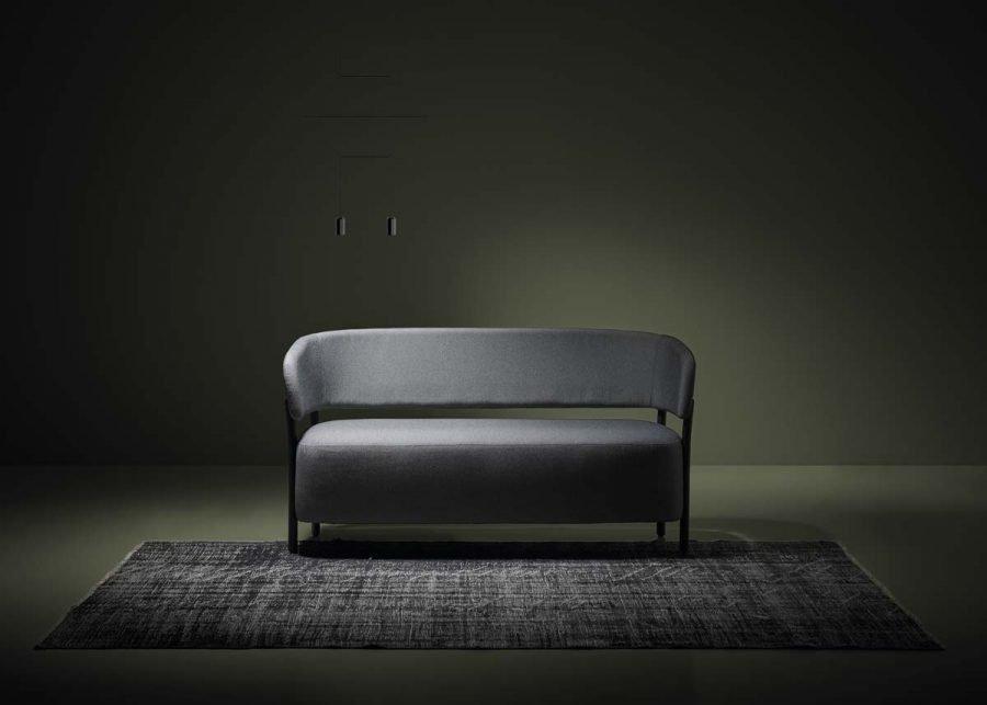 Sofá RC Metal tapizado gris