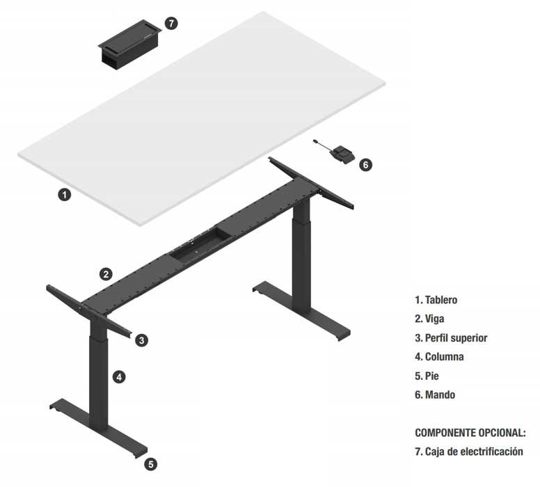 composición mesa stand up
