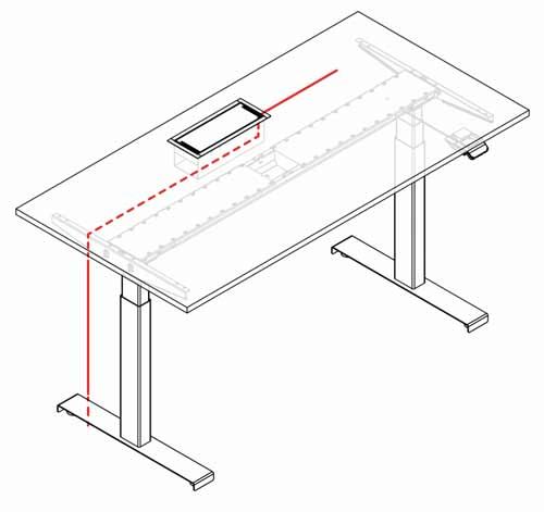 ejemplo electrificación mesa stand up