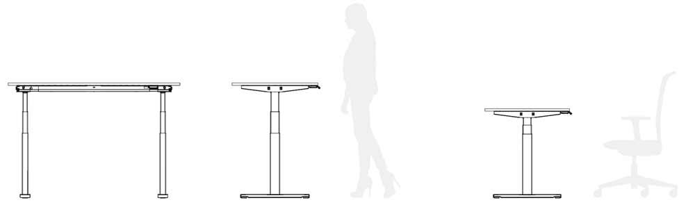 posiciones mesa stand up