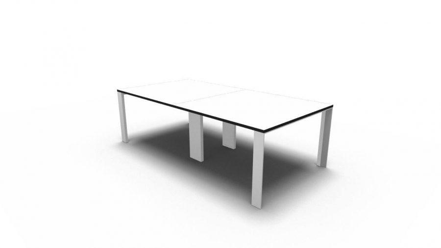 Mesa reunión UM 320 blanco canto negro