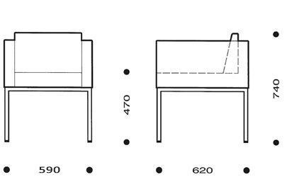 medidas butaca cubik