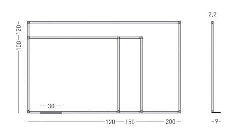 Medidas Pizarra Magnética 720