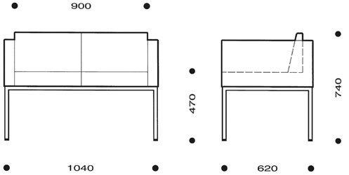 medidas sofá cubik