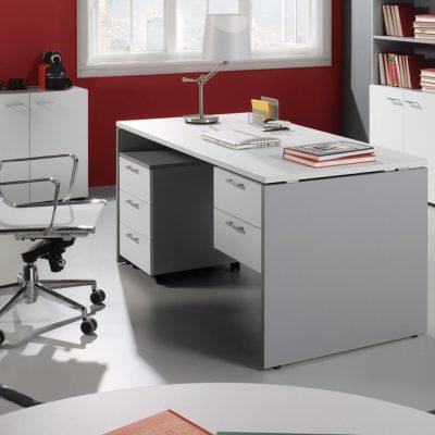 mesa ala premier gris blanca