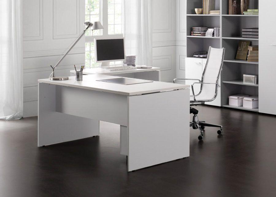 mesa con ala premier blanca