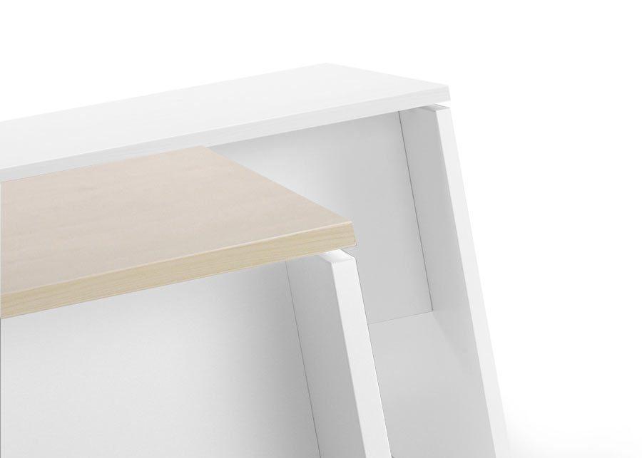 mesa premier blanco y roble express