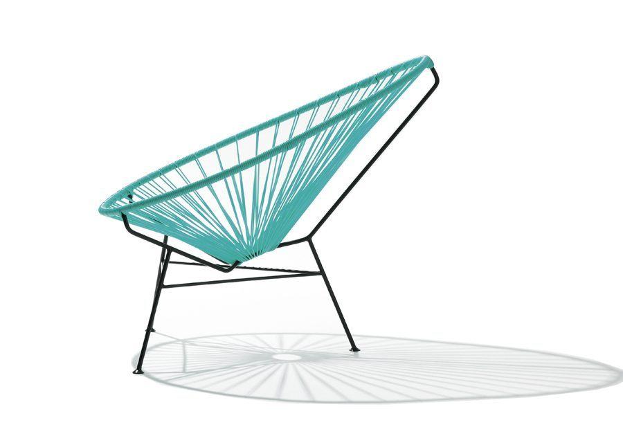 silla acapulco turquesa lateral