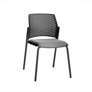 silla replay tapizada negro gris