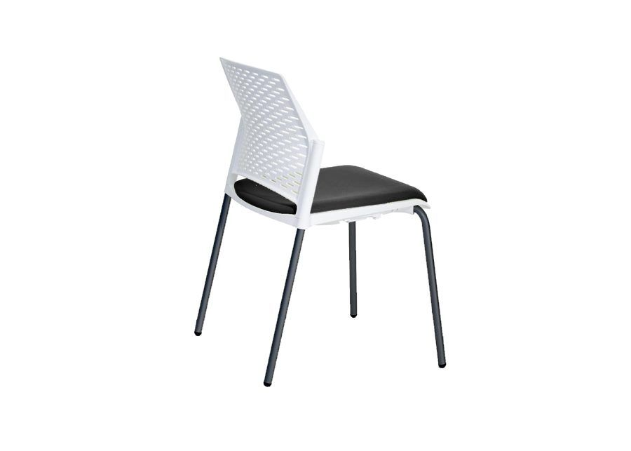 silla replay negra tapizada trasera