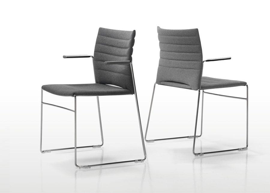 silla slim brazos tapizada trasera