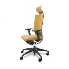 silla Techna dirección piel mostaza