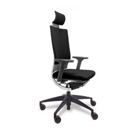 silla techna tela negra
